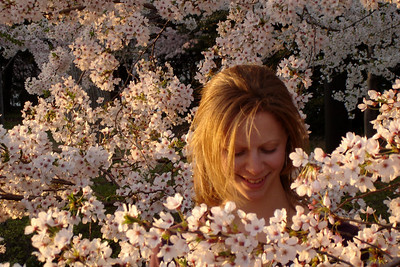 Emily in the Cherry Blossoms - Washington, DC ... April 1, 2006 ... Photo by Rob Page III