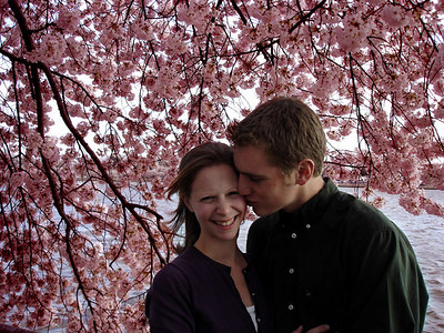 Rob and Emily enjoying the cherryblossoms - Washington, DC ... April 1, 2006