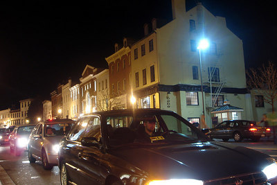 Wisconsin Ave at night - Washington, DC ... March 30, 2007 ... Photo by Rob Page III