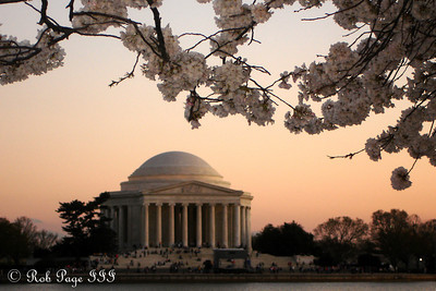 The Jefferson at sunset - Washington, DC ... April 2, 2007 ... Photo by Rob Page III