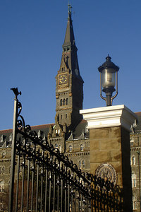 The front gates of Georgetown University - Washington, DC ... March 17, 2007 ... Photo by Rob Page III