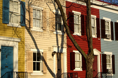 The colorful townhouses of Georgetown - Washington, DC ... March 17, 2007 ... Photo by Rob Page III