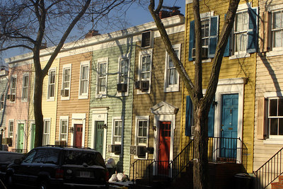 The colorful houses of Georgetown - Washington, DC ... March 17, 2007 ... Photo by Rob Page III