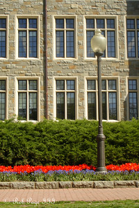 A lamp in front of White Gravenor - Washington, DC ... April 21, 2007 ... Photo by Rob Page III