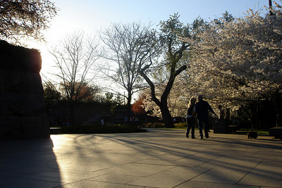 The suns sinks behind the FDR Memorial - Washington, DC ... April 2, 2007 ... Photo by Rob Page III