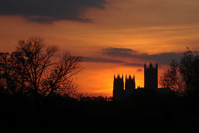The sun sets behind the National Cathedral after a fantastic evening of kickball - Washington, DC ... April 30, 2007 ... Photo by Rob Page III