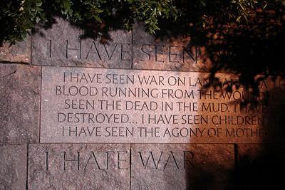 I have seen war, I hate war - Washington, DC ... April 2, 2007 ... Photo by Rob Page III