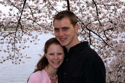 Rob and Emily enjoying the cherry blossoms - Washington, DC ... March 29, 2008 ... Photo by a kind stranger