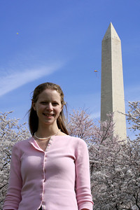 Emily and the Washington Monument - Washington, DC ... March 29, 2008 ... Photo by Rob Page III