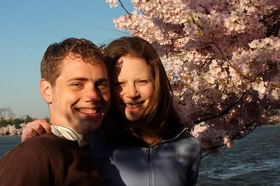 Rob and Emily enjoying the cherryblossoms - Washington, DC ... April 4, 2009 ... Photo by Unknown