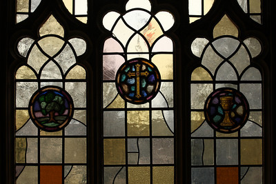 Stain glass at Georgetown University - Washington, DC ... March 27, 2010 ... Photo by Rob Page III