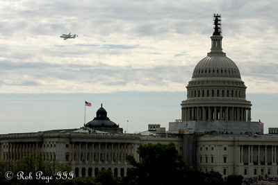 Discovery glides past the Capitol - Washington, DC ... April 17, 2012 ... Photo by Rob Page III