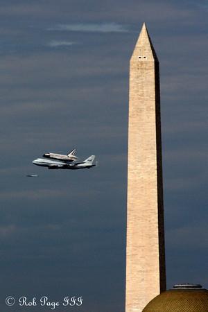 Discovery Flyover of Washington DC