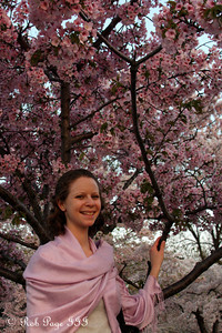 Emily enjoying the cherryblossoms - Washington, DC ... March 22, 2012 ... Photo by Rob Page III