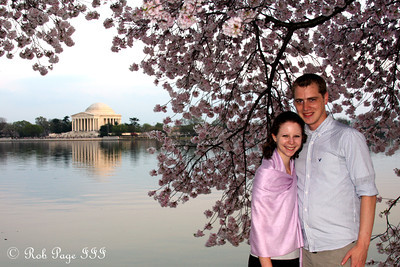 Rob and Emily at the Tidal Basin - Washington, DC ... March 22, 2012