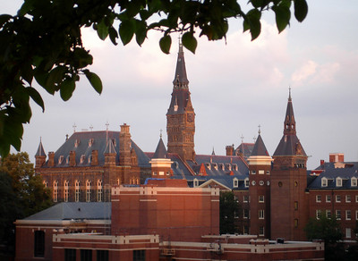 Georgetown University at sunset - Georgetown, DC ... June 26, 2005 ... Photo by Rob Page III