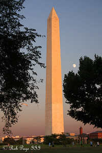 The Washington Monument at sunset - Washington, DC ... September 1, 2009 ... Photo by Rob Page III