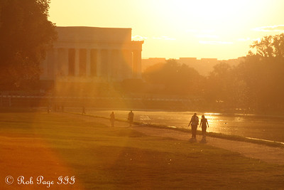 Walking along the reflecting pool - Washington, DC ... September 1, 2009 ... Photo by Rob Page III