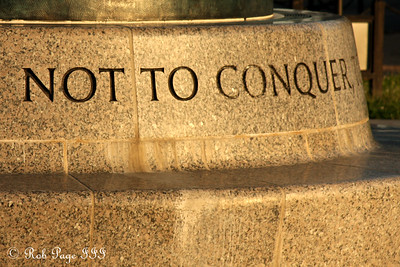 """Not to Conquer"" - Washington, DC ... September 1, 2009 ... Photo by Rob Page III"