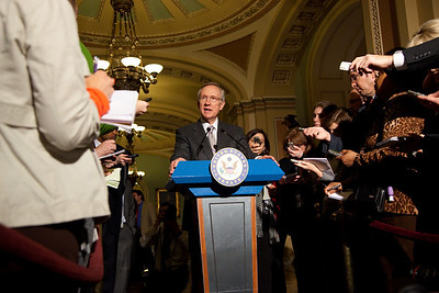 Senate Majority Leader Harry Reid holds press conference in the Capitol