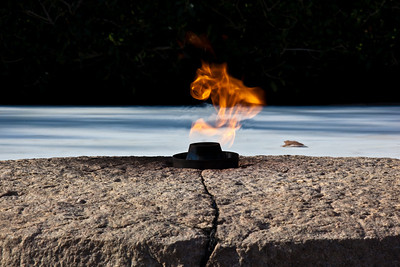 President John F. Kennedy Gravesite eternal flame - Arlington National Cemetery