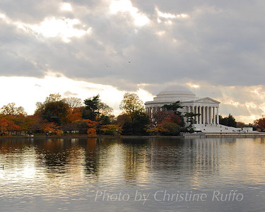 Jefferson Memorial in autumn