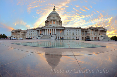 U.S. Capitol at sunset