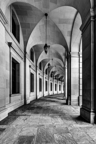 Federal Triangle Archway B&W