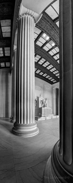 Lincoln Memorial Vertical Panorama [BW]