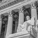 Authority of Law Statue at the Supreme Court [V2] [BW]