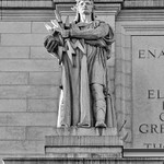 Thales Statue at Union Station in Washington, DC [BW]