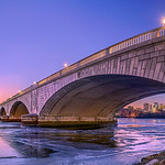 Arlington Memorial Bridge Winter Sunset