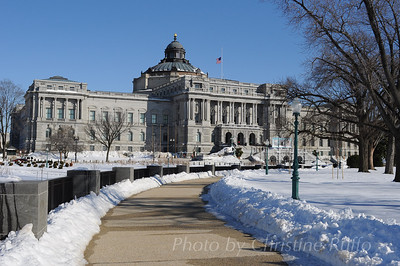 Library of Congress in snow