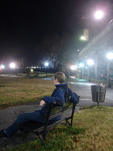Relaxing on the bench - Washington, DC ... January 11, 2006 ... Photo by Rob Page III