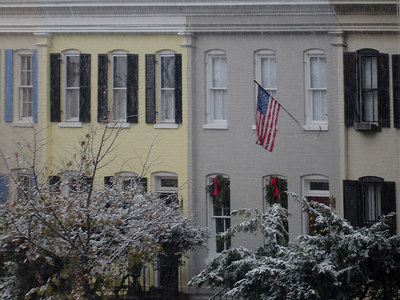 Georgetown in the snow - Georgetown, DC ... December 10, 2005 ... Photo by Rob Page III