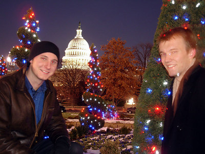 Nick Lizop and Phil Beer with the Capitol - Washington, DC ... December 10, 2005 ... Photo by Rob Page III