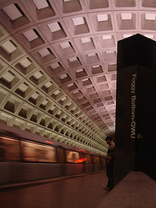 Dermot, in the Foggy Bottom Metro Station - Washington, DC ... January 28, 2006 ... Photo by Rob Page III