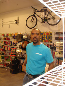 Mark working the overnight at the Container Store - Washington, DC ... February 7, 2006 ... Photo by Rob Page III