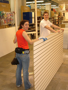 Rosie and JT working the overnight at the Container Store - Washington, DC ... February 7, 2006 ... Photo by Rob Page III