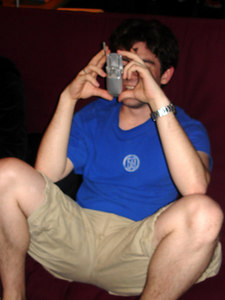 Dermot, on the phone with Terry while drunk - Washington, DC ... February 3, 2006 ... Photo by Rob Page III