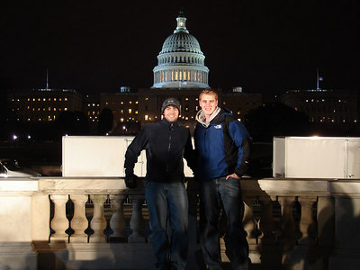 Rob and Dermot in front of the Capitol - Washington, DC ... January 31, 2006 ... Photo by Rob Page III