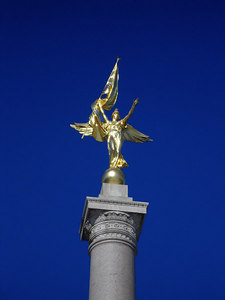 """Victory"" at the top of the First Infantry Division Monument - Washington, DC ... December 9, 2005 ... Photo by Rob Page III"