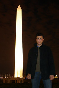 Pedro under the Washington Monument - Washington, DC ... December 28, 2006 ... Photo by Rob Page III