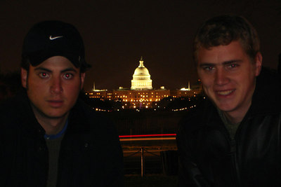 Rob and Pedro hanging out on the National Mall - Washington, DC ... December 28, 2006 ... Photo by Rob Page III
