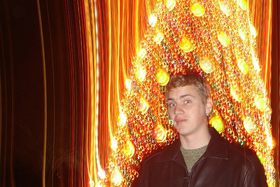 Rob in front of the National Christmas Tree - Washington, DC ... December 28, 2006 ... Photo by Pedro Mendoza