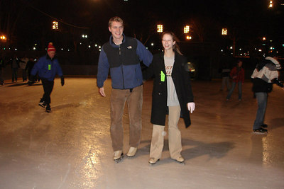 Rob and Emily ice skating - Washington, DC ... December 31, 2006 ... Photo by Heather Page