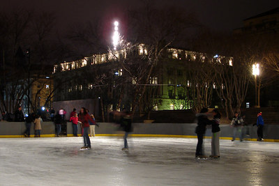 Ice skating at Pershing Park near the White House - Washington, DC ... December 31, 2006 ... Photo by Rob Page III