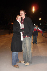 Heather and John ice skating - Washington, DC ... December 31, 2006 ... Photo by Rob Page III