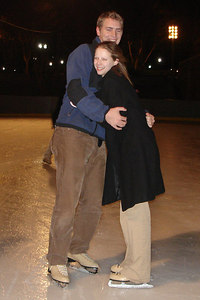 Rob and Emily skating in Pershing Park - Washington, DC ... December 31, 2006 ... Photo by Heather Page