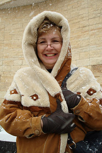 Enjoying the snow in front of the American Indian Museum - Washington, DC ... February 24, 2007 ... Photo by Rob Page III